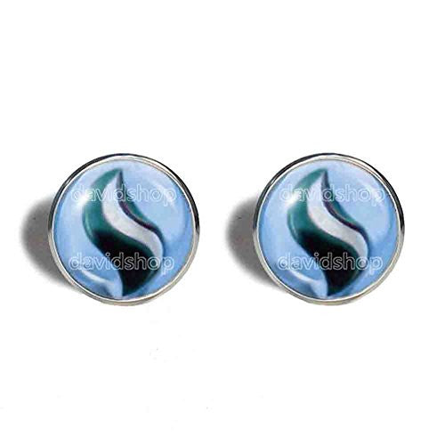 Pokemon Abomasite Mega Stone Cufflinks Cuff links Fashion Jewelry Abomasnow Cosplay Charm