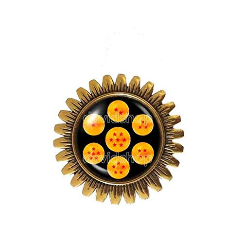 Dragon Ball Z Star Brooch Badge Pin 1 2 3 4 5 6 7 Symbol Fashion Jewelry Cosplay