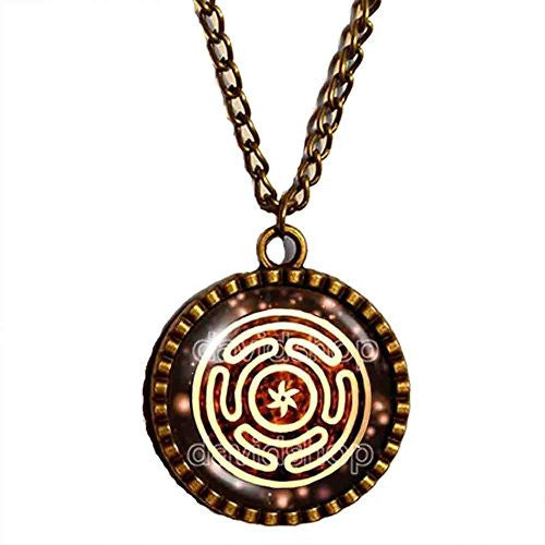 Wheel of Hecate Necklace Picture Art Symbol Pendant Fashion Jewelry Cosplay