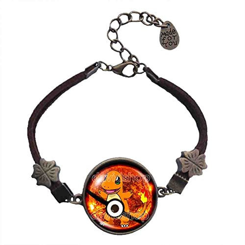 Pokemon Charmander Pokeball Bracelet Anime Pendant Fashion Jewelry Cosplay Cute - DDavid'SHOP
