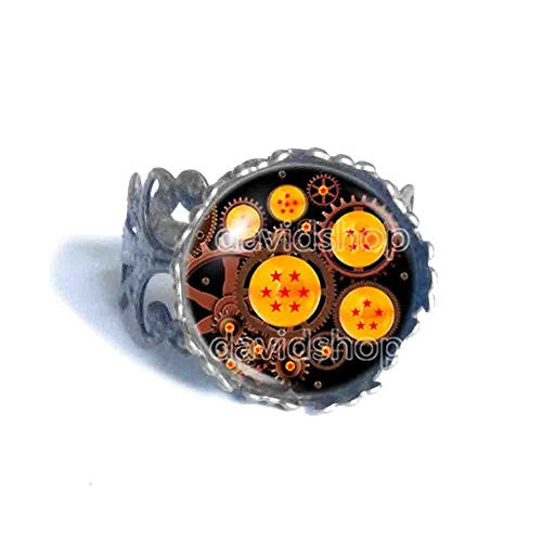 Dragon Ball Z Star Ring 1 2 3 4 5 6 7 Symbol Gear Steampunk Fashion Jewelry Cosplay
