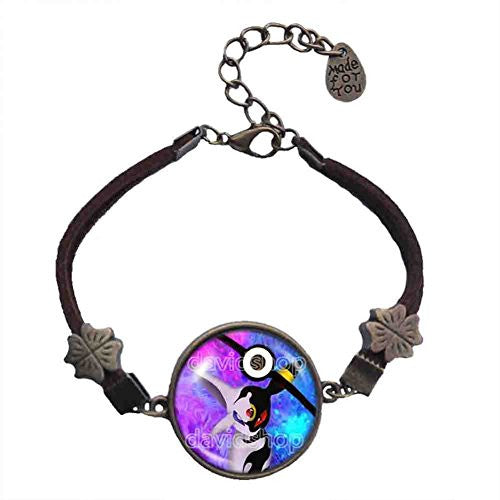 Pokemon Umbreon Espeon Pokeball Bracelet Pendant Jewelry Cosplay Cute Gift Blue Purple - DDavid'SHOP