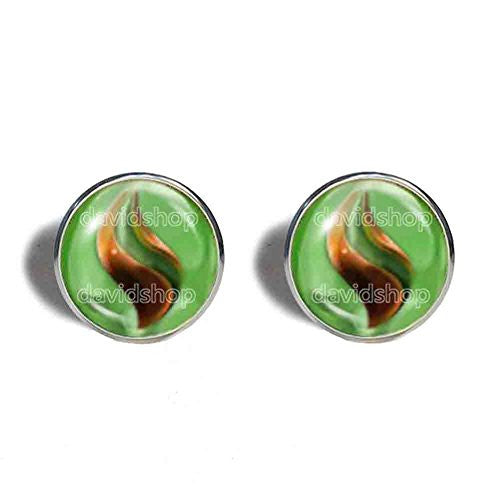 Pokemon Sceptilite Mega Stone Cufflinks Cuff links Fashion Jewelry Sceptile Cosplay Charm