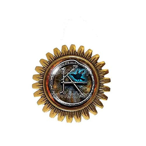 The Dark Tower KA Symbol Brooch Badge Pin Pendant Fashion Jewelry Cosplay Cute Gift