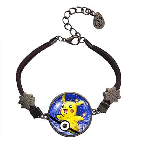Pokemon Pikachu Bracelet Anime Fashion Pokeball Jewelry Cosplay Gift Cute Poke ball