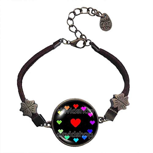 Undertale Bracelet Jewelry Game Charm Cosplay Undyne Colorful Love Heart Shaped