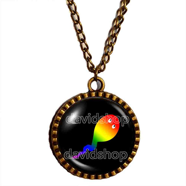 Cute Gay Pride Necklace Pendant Fashion Jewelry Flag Rainbow LGBTQ Symbol Art Gift For Friend Colorful Hip Hop Charm