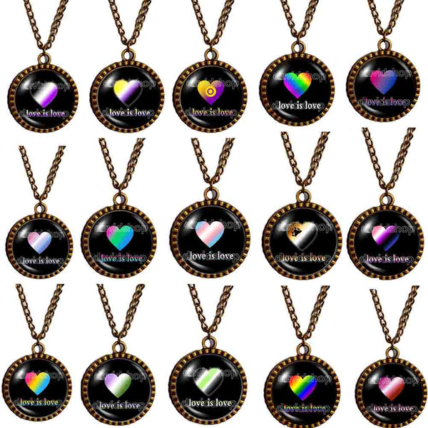 LGBT Pride Necklace Flag Rainbow Bear Cay Lesbian Pan Trans Bigender Asexual Genderqueer Polisexual Non Binary Bisexual Agender Intersex