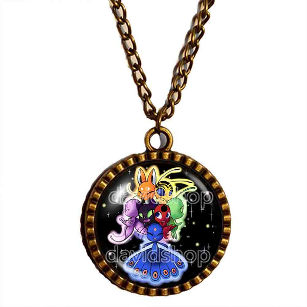Peacock Cat Noir Volpina Rena Rouge Queen Bee Miraculous Ladybug Necklace Photo Pendant Fashion Jewelry Cosplay