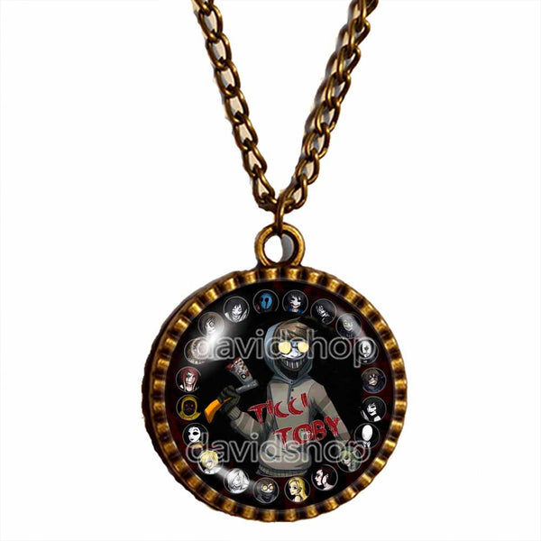 Creepypasta Ticci Toby Necklace Photo Pendant Fashion Jewelry CREEPY PASTA Cosplay Cute Gift