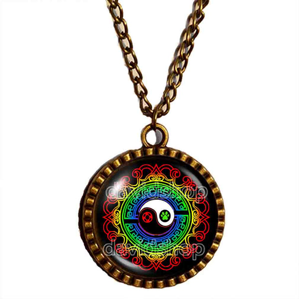 Peacock Cat Noir Volpina Rena Rouge Queen Bee Miraculous Ladybug Miracle Box Chest Master Fu Necklace Photo Pendant Jewelry Colorful Yin Yang