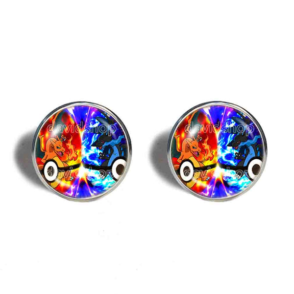 Pokemon Charizard Pokeball Cufflinks Cuff links Fashion Jewelry Charizardite XY X Y Mega Stone Cosplay Cute Gift
