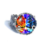 Pokemon Charizard Pokeball Ring Anime Jewelry Charizardite XY X Y Mega Stone Cosplay Cute Gift