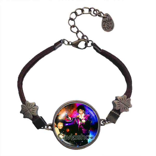 Prince Bracelet Purple Rain Art Fashion Jewelry Gift Sign Cosplay Men