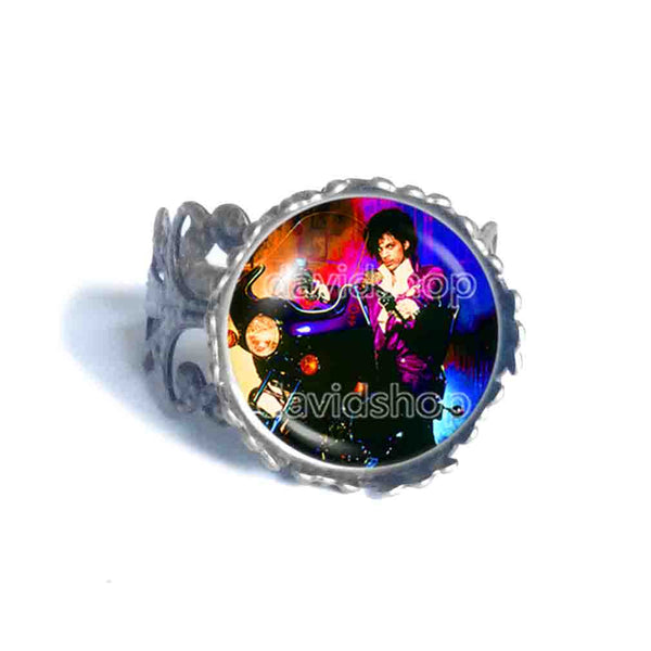 Prince Ring Purple Rain Art Fashion Jewelry Gift Sign Cosplay Men