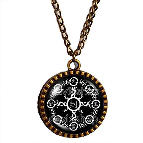 Naruto Seal Necklace Element Pendant Fashion Jewelry Cute Anime Cosplay Symbol