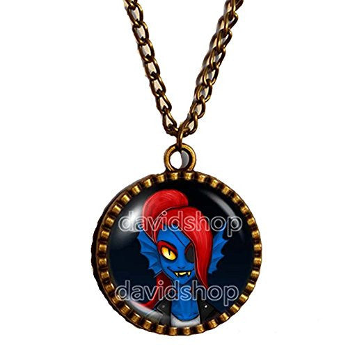 Undertale Necklace Art Pendant Fashion Jewelry Game Cosplay Undyne Mettaton