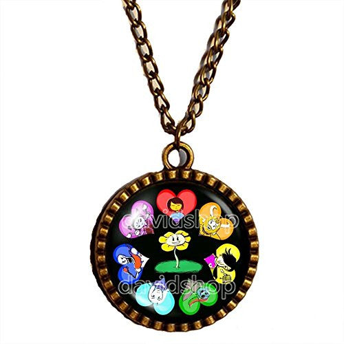 Undertale Necklace Art Pendant Jewelry Game Gift Cosplay Undyne Sans Papyrus