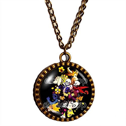 Undertale Necklace Art Pendant Fashion Jewelry Game Gift Cosplay Doggo Gaster