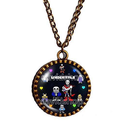 Undertale Necklace Pendant Cosplay Undyne Sans And Papyrus Skeleton Brother Colourful