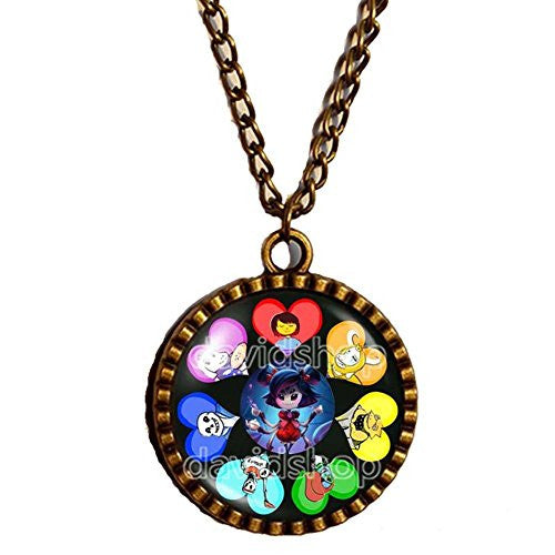 Undertale Necklace Art Pendant Game Cosplay Undyne Muffet Fashion Jewelry Gift