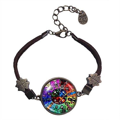 Homestuck Bracelet God Mandala art Glass Pendant cosplay fashion Jewelry Charm chain Gift