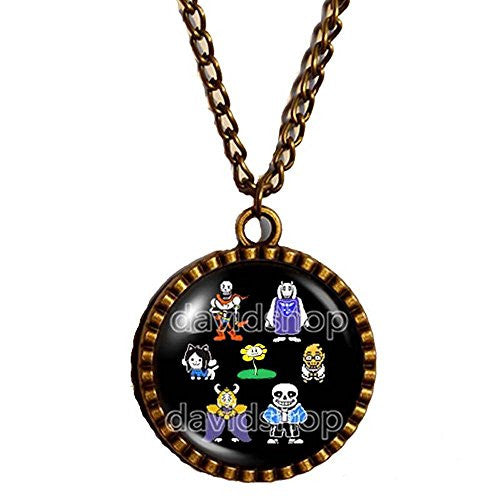 Undertale Necklace Art Pendant Fashion Jewelry Game Gift Frisk Cosplay Undyne