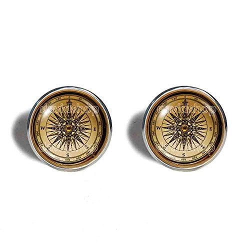 Antique Vintage Nautical Compass Cufflinks Cuff links