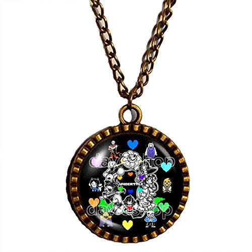 Undertale Necklace Art Pendant Fashion Jewelry Game Gift Cosplay Frisk Chara