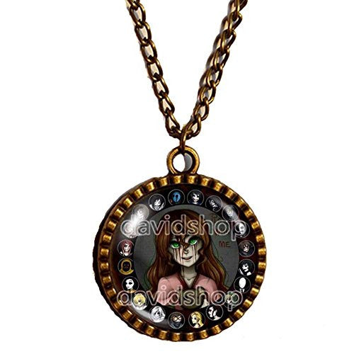 Creepypasta CREEPY PASTA Necklace Sally Play with Me Jewelry Pendant Cosplay - DDavid'SHOP