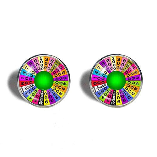 Wheel Of Fortune Cufflinks Cuff links Symbol Cosplay Fashion Jewelry Charm Cute Gift