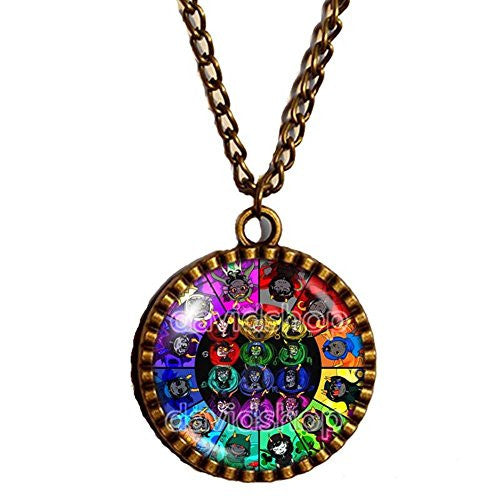 Homestuck Necklace God Mandala Art Pendant cosplay Fashion Jewelry Taurus Chain