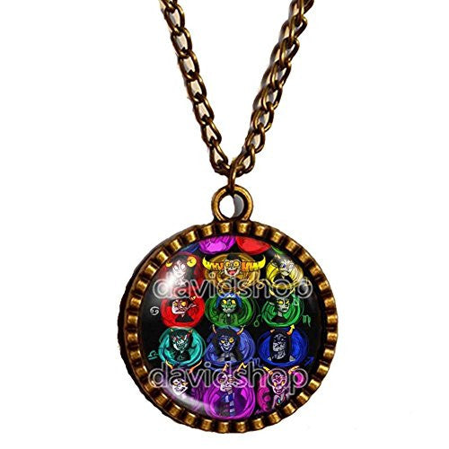 Homestuck Necklace God Mandala Jewelry Gift Chain Art Colorful Jewelry New Pendant