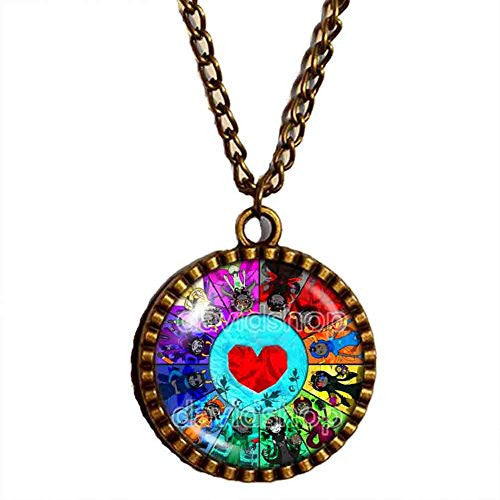 Homestuck Necklace God Mandala Heart Container cosplay fashion Jewelry Charm chain Gift symbol