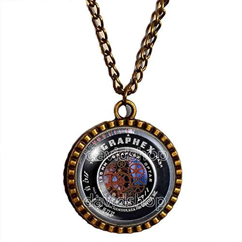 Gear Steampunk Vintage Old Camera Lens Necklace Symbol Picture Art Pendant Fashion Jewelry