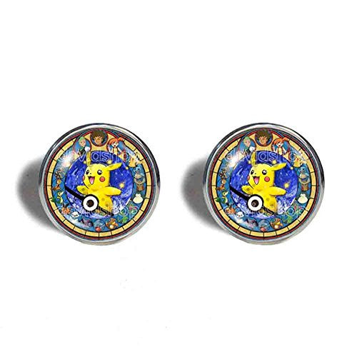 Pokemon Pikachu Cufflinks Cuff links Anime Pendant Fashion Jewelry Cosplay Gift Cute Flareon
