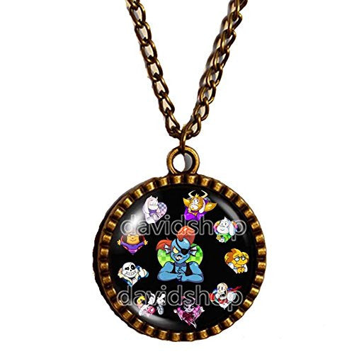 Undertale Necklace Art Pendant Fashion Jewelry Game Gift Cosplay Undyne Vulkin