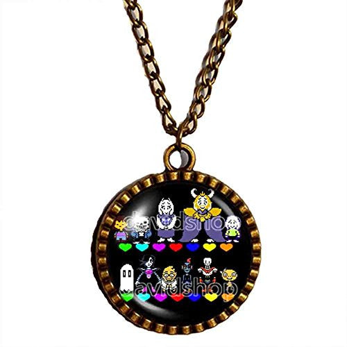 Undertale Necklace Pendant Fashion Jewelry Doggo Undyne Cosplay Red Heart Multicolor Sans