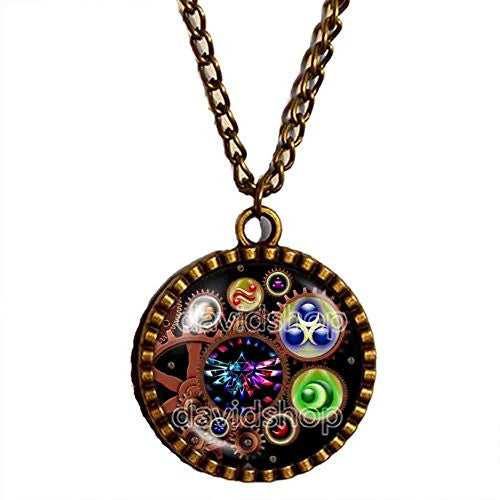 The Legend Of Zelda Triforce Necklace Ocarina of Time Pendant Jewelry Chain Cosplay Gear Steampunk