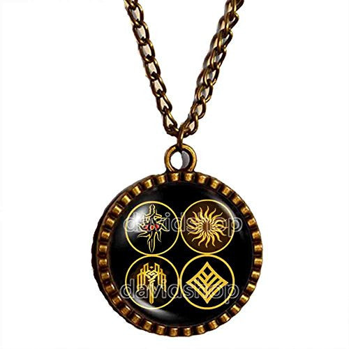 Kirkwall Dragon Age Necklace Symbol Sign Eye Pendant Jewelry Cosplay Cute Gift