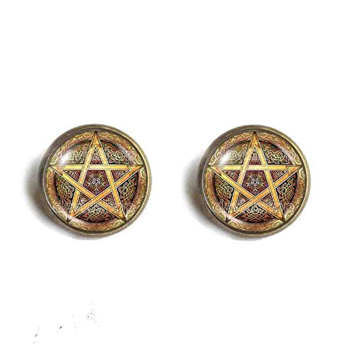 Witchcraft Pentacle Wicca Pentagram Wiccan Pagan Ear Cuff Earring Fashion Jewelry Gift Cosplay