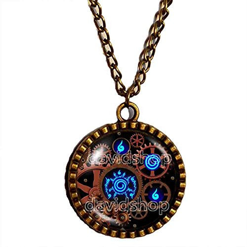 Naruto Seal Necklace Pendant Fashion Jewelry Anime Cosplay Symbol Gear Steampunk