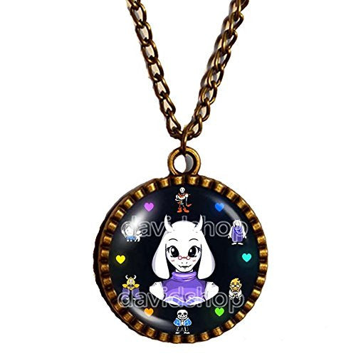 Undertale Necklace Pendant Fashion Jewelry Game Cosplay Toriel Perseverance