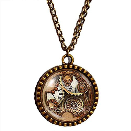 Dr Doctor Who Gallifreyan Necklace Symbol Time Lord Pendant Gear Steampunk