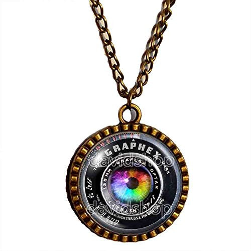 Colorful Eyes Vintage Old Camera Lens Necklace Symbol Picture Art Pendant Fashion Jewelry - DDavid'SHOP