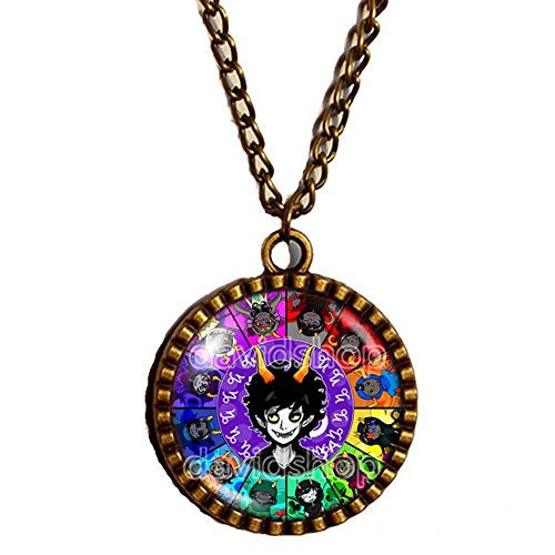 Homestuck Necklace God Mandala Pendant cosplay Taurus Leo