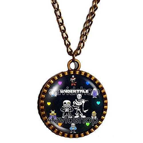 Undertale Necklace Pendant Cosplay Undyne Sans And Papyrus Skeleton Brother Gift