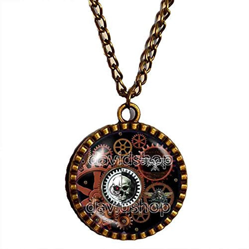 Gear Steampunk Warhammer 40k Adeptus Mechanicus Necklace Space Marine Pendant