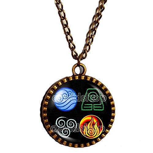 Avatar the last Airbender Necklace Fire Elements Water Tribe Earth Kingdom Air Nomads Pendant Legend of Korra Jewelry Cute Gift - DDavid'SHOP