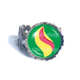 Pokemon Rayquazite Mega Stone Ring Anime Jewelry Rayquaza Cosplay Charm